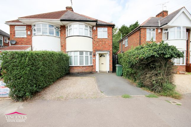 Thumbnail Semi-detached house for sale in Shakespeare Drive, Leicester