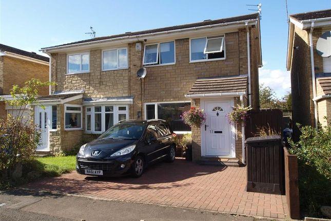 Semi-detached house for sale in Larriston Place, Cramlington