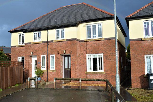 Thumbnail Semi-detached house to rent in Gerddi Glandwr, Vaynor, Newtown, Powys