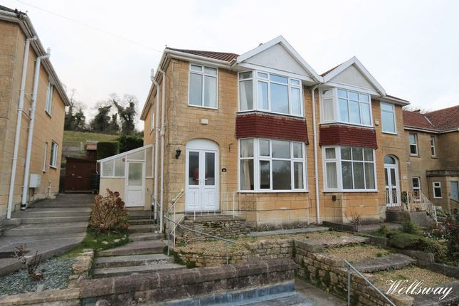 Thumbnail Semi-detached house to rent in Wellsway, Bath