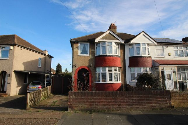 Thumbnail Semi-detached house for sale in Wentworth Drive, Crayford, Dartford