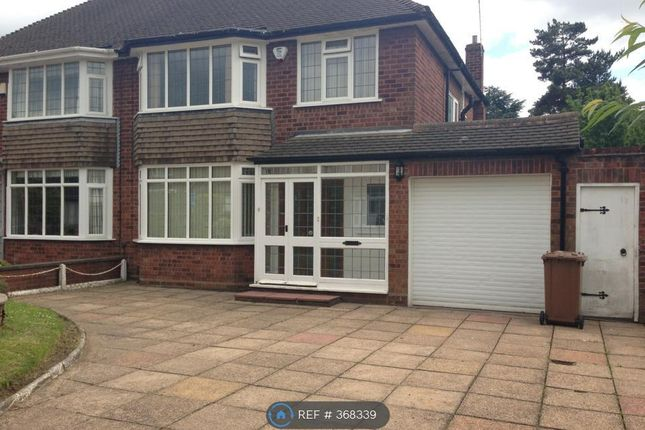 Thumbnail Semi-detached house to rent in Rushall Manor Road, Walsall