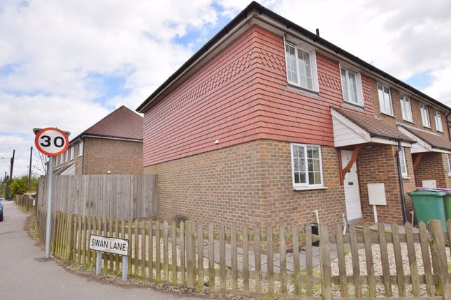 Thumbnail Terraced house to rent in The Chestnuts, Main Road, Ashford