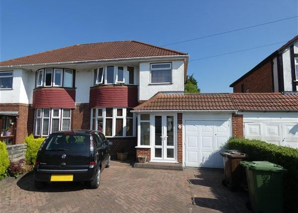 Thumbnail Semi-detached house for sale in Thurlston Avenue, Solihull, Solihull
