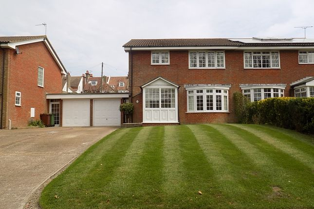Thumbnail Semi-detached house for sale in Long Acre Close, Eastbourne