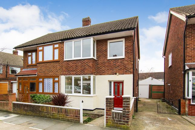 Thumbnail 3 bedroom semi-detached house to rent in Burchwall Close, Collier Row, Romford