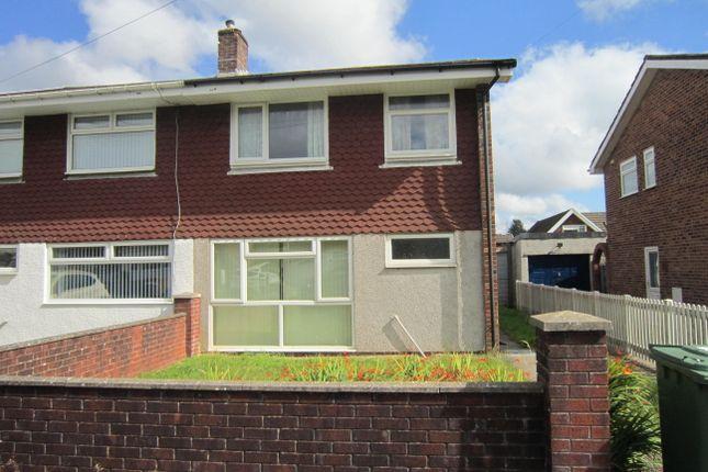 Thumbnail Semi-detached house for sale in Wallis Drive, Penpedairheol