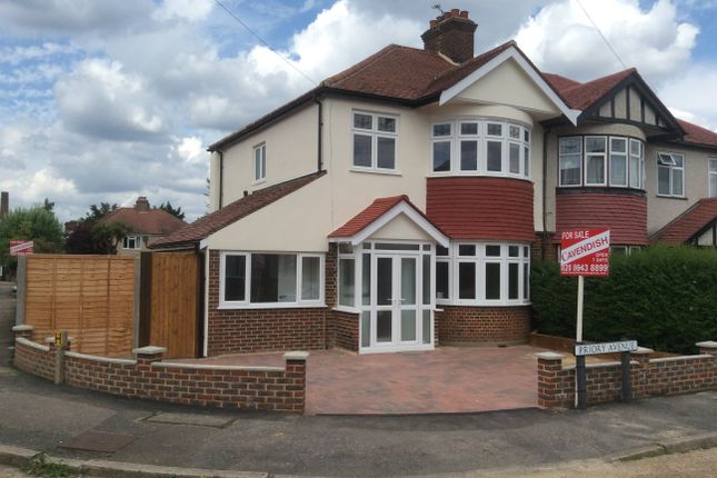 Thumbnail Semi-detached house for sale in Priory Avenue, North Cheam
