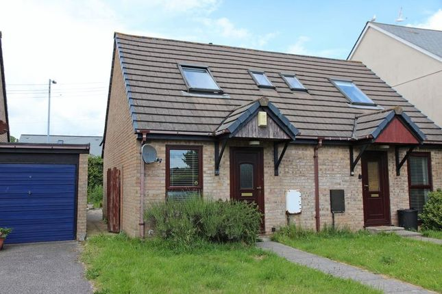 Thumbnail 1 bed semi-detached house for sale in Willow Close, Quintrell Downs, Newquay