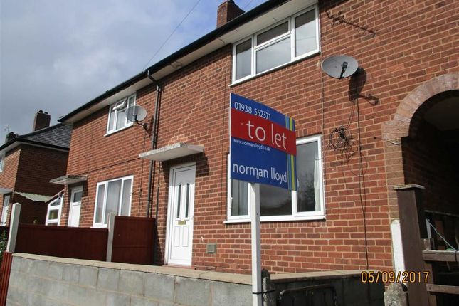 Thumbnail Terraced house to rent in 11, Bron Y Buckley, Welshpool, Powys
