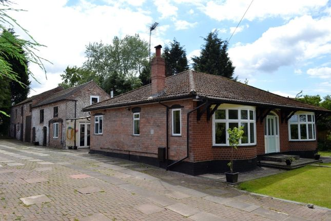 Thumbnail Detached bungalow for sale in Newcastle Road, Crewe