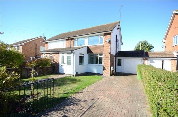 Thumbnail Semi-detached house for sale in Fairmead Close, College Town, Sandhurst