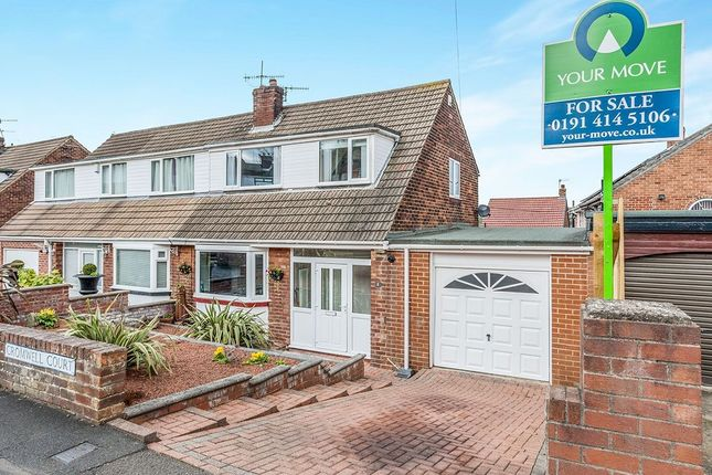 Thumbnail Semi-detached house for sale in Cromwell Court, Blaydon-On-Tyne