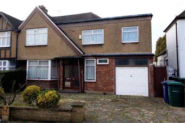 Thumbnail Semi-detached house for sale in Edgwarebury Lane, Edgware, Middlesex