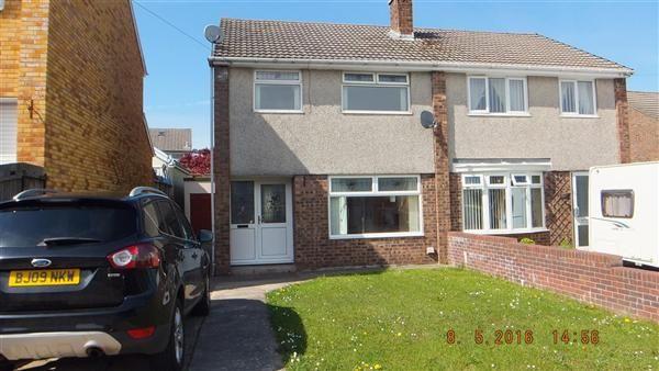 Thumbnail Semi-detached house for sale in Claverton Close, Gwaun Miskin, Beddau