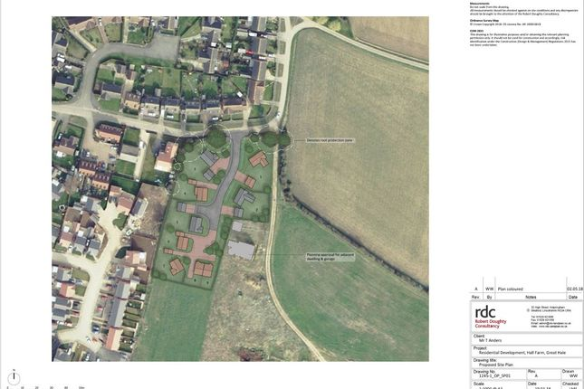 Thumbnail Land for sale in Hall Road, Great Hale, Sleaford