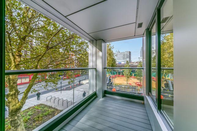 Balcony of Hurlock Heights, Elephant Park, London SE17