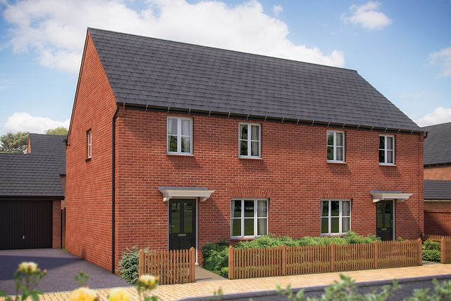 """Thumbnail Semi-detached house for sale in """"The Chessington"""" at Whitelands Way, Bicester"""