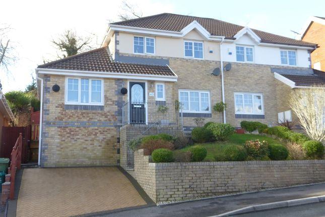 Thumbnail Semi-detached house for sale in Graig Y Mynydd, Thomastown, Porth