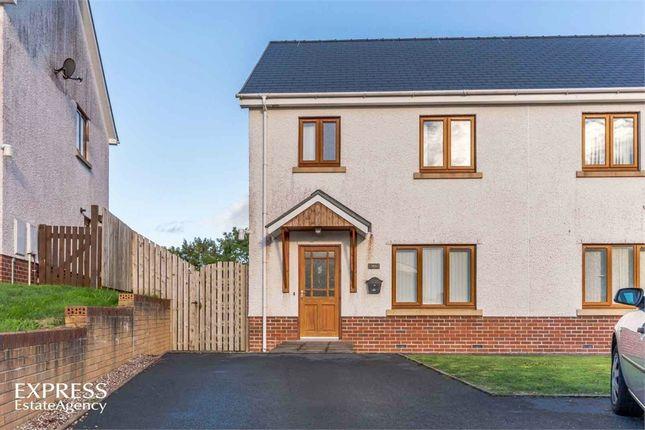 Thumbnail Semi-detached house for sale in Caer Wylan, Llanbadarn Fawr, Aberystwyth, Ceredigion