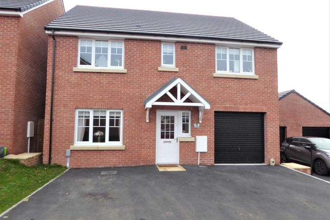 Thumbnail Detached house for sale in Cae Cenydd, Brackla, Bridgend.
