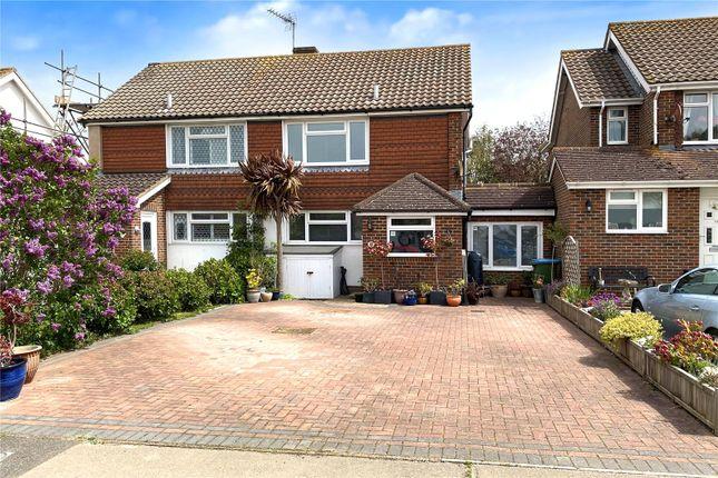 Thumbnail Semi-detached house for sale in Highdown Drive, Littlehampton
