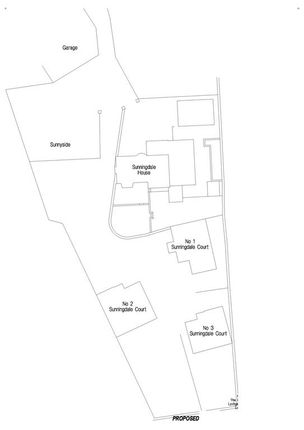 Site Plan of Plot 2, Sunningdale Court, Hellifield, Skipton BD23