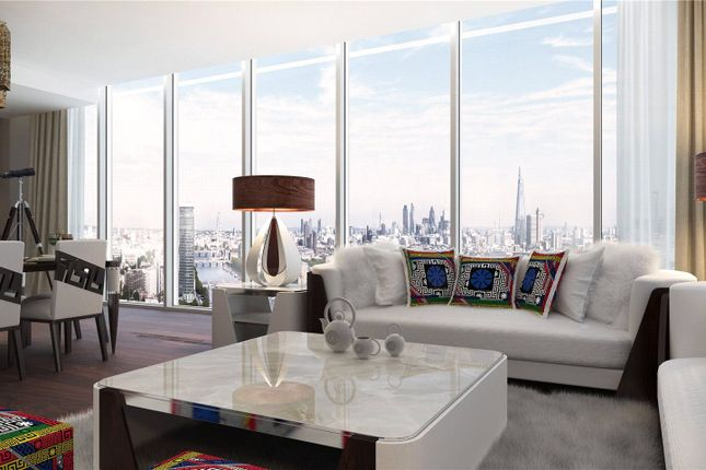 Thumbnail Flat for sale in Versace Tower, Nine Elms, London