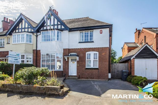 Thumbnail Semi-detached house to rent in Crosbie Road, Harborne