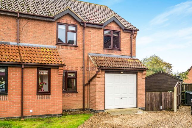 Thumbnail Semi-detached house for sale in Two Fields Way, Bawdeswell, Dereham