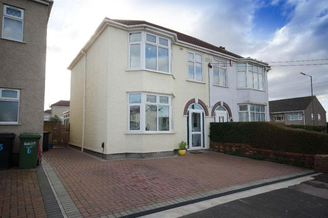 Thumbnail Semi-detached house for sale in Jubilee Crescent, Mangotsfield, Bristol