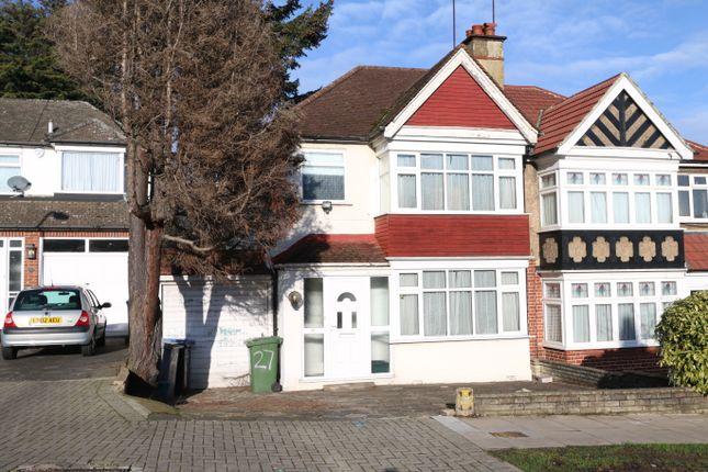 Thumbnail Semi-detached house for sale in Regal Way, Kenton, Harrow