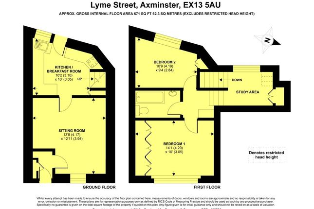 Floor Plan of Lyme Street, Axminster, Devon EX13
