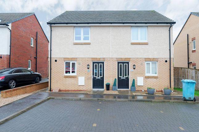 Thumbnail Semi-detached house for sale in Gisborne Drive, Airdrie, North Lanarkshire
