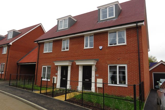 Thumbnail Town house for sale in Jermyn Way, Tharston, Norwich