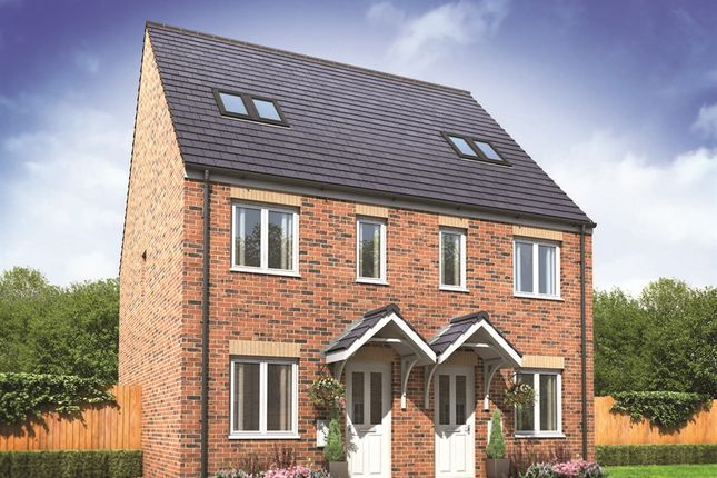 "Thumbnail Semi-detached house for sale in ""The Bickleigh"" at Oakdale, Blackwood"