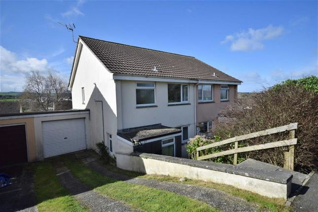 Thumbnail Semi-detached house to rent in Marshall Avenue, Wadebridge, Cornwall