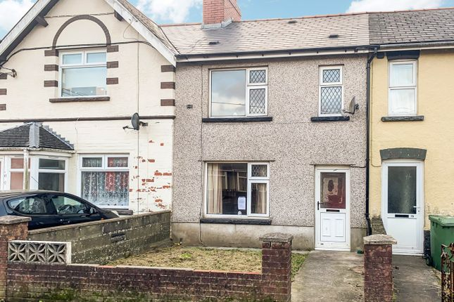 Thumbnail Terraced house for sale in Gelligaer Road, Cefn Hengoed, Hengoed
