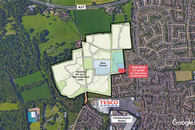 Thumbnail Land for sale in Land East Of Titnore Lane, Titnore Lane, Worthing, West Sussex