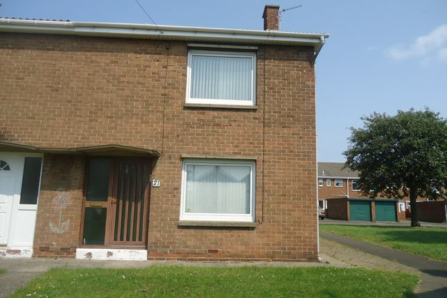 Thumbnail End terrace house to rent in Kirkley Drive, Ashington