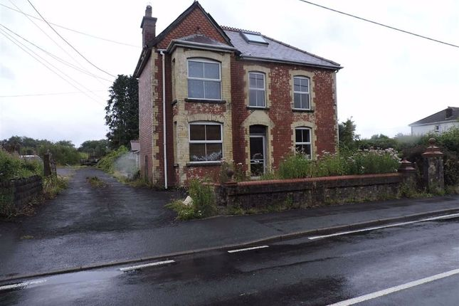 Thumbnail Detached house for sale in Black Lion Road, Cross Hands, Llanelli