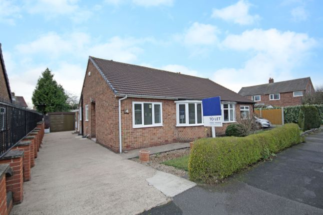 Thumbnail 2 bed semi-detached bungalow to rent in Sherwood Avenue, Littleover, Derby