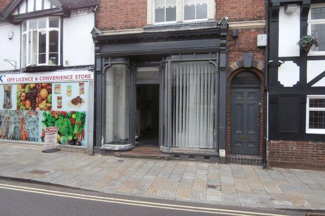 Thumbnail Retail premises to let in 8 Shropshire Street, Market Drayton, Shropshire