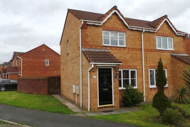 Thumbnail 2 bed semi-detached house for sale in Dunnock Lane, Cottam, Preston