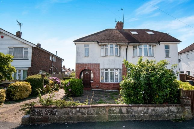 Thumbnail Semi-detached house for sale in Broad Road, Willingdon, Eastbourne