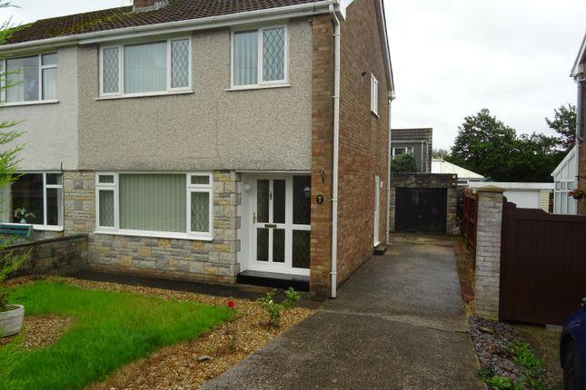 Thumbnail Semi-detached house for sale in Llwyn Bedw, Pencoed, Bridgend