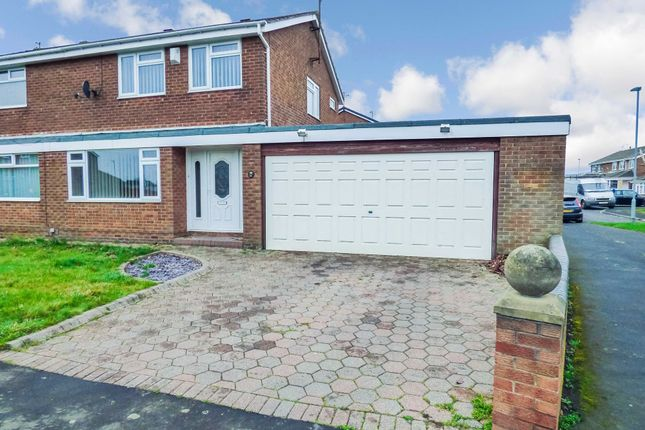 Thumbnail Semi-detached house for sale in Newlyn Drive, Cramlington