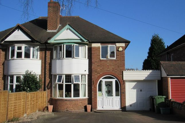 Thumbnail Semi-detached house for sale in Butler Road, Solihull