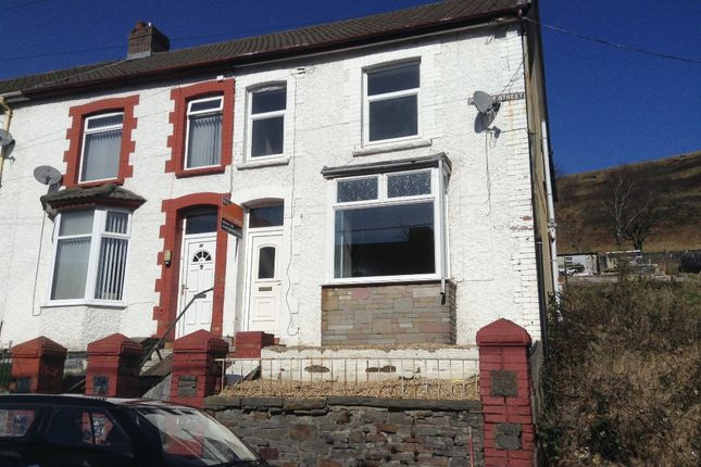 Thumbnail End terrace house to rent in Pergwm Street, Trealaw