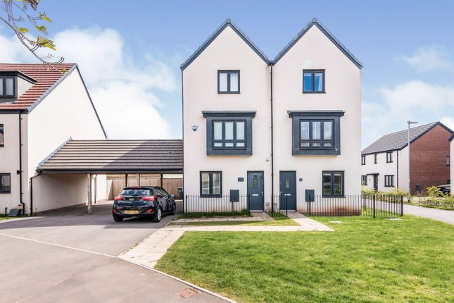 Thumbnail Town house for sale in Church Road, Old St. Mellons, Cardiff
